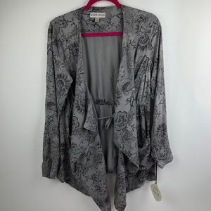 Knox Rose open cardigan floral print size Small